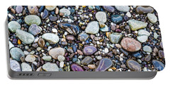 Abstract Nature Tropical Beach Pebbles 871a Blue Purple Pink And Orange 871a Portable Battery Charger