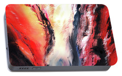Portable Battery Charger featuring the painting Abstract New by Anil Nene