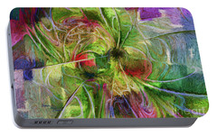 Portable Battery Charger featuring the digital art Abstract Of Color by Deborah Benoit