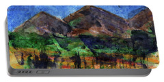 Abstract Of Sky Trees And Mountains Portable Battery Charger by R Kyllo