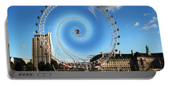 Abstract Of The Millennium Wheel Portable Battery Charger
