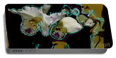 Abstract Orchids Portable Battery Charger