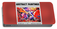 Abstract Painting Collection Portable Battery Charger by Modern Art Prints