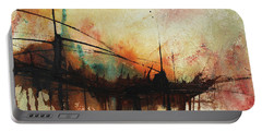 Abstract Painting Contemporary Art Portable Battery Charger