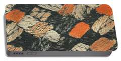 Abstract Pattern Black And Orange Portable Battery Charger