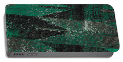 Abstract Pattern No.11 Green And Black Portable Battery Charger
