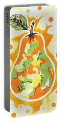 Portable Battery Charger featuring the painting Abstract Pear by Kathleen Sartoris