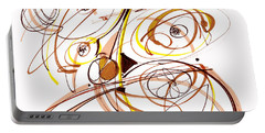 Abstract Pen Drawing Five Portable Battery Charger by Lynne Taetzsch