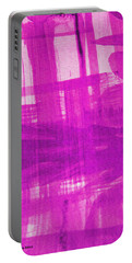 Abstract Pink And Purple Portable Battery Charger by Tom Janca
