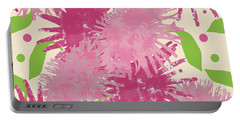 Abstract Pink Puffs Portable Battery Charger