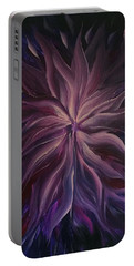 Abstract Purple Flower Portable Battery Charger