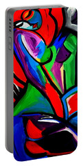 Abstract  Rain Bow Girl Portable Battery Charger by Nora Shepley