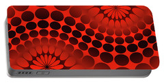 Abstract Red And Black Ornament Portable Battery Charger by Vladimir Sergeev