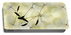 Abstract Botanical Portable Battery Charger