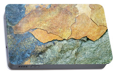 Portable Battery Charger featuring the photograph Abstract Rock by Christina Rollo