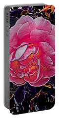 Abstract Rose 11 Portable Battery Charger