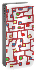 Abstract Scattered Nodes Portable Battery Charger