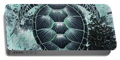 Abstract Sea Turtle Portable Battery Charger