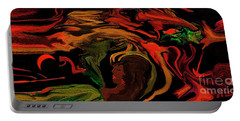 Abstract Shall We Awaken Her Portable Battery Charger by Sherri's Of Palm Springs