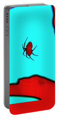 Abstract Spider Portable Battery Charger by Linda Hollis