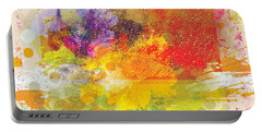Abstract Splatter Portable Battery Charger