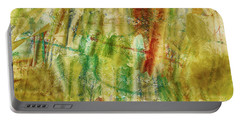 Portable Battery Charger featuring the digital art Abstract Sunday by Deborah Benoit