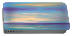 Abstract Sunset In Purple Blue And Yellow Portable Battery Charger
