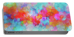 Portable Battery Charger featuring the painting Abstract Sunset Painting With Colorful Clouds Over The Ocean by Ayse Deniz