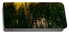 Abstract Sunset Reflection Portable Battery Charger by Derek Dean