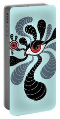 Abstract Surreal Double Red Eye Portable Battery Charger