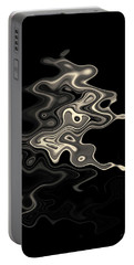 Abstract Swirl Monochrome Toned Portable Battery Charger
