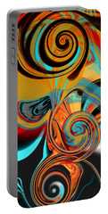 Abstract Swirls Portable Battery Charger by Jessica Wright