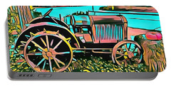 Portable Battery Charger featuring the digital art Abstract Tractor Los Olivos California by Floyd Snyder