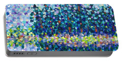 Portable Battery Charger featuring the painting Abstract Trees Impressionist Painting by Cristina Stefan