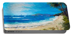 Abstract Tropical Beach Portable Battery Charger