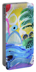 Abstract Tropical Landscape Portable Battery Charger by Amara Dacer
