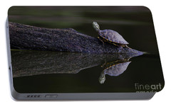 Portable Battery Charger featuring the photograph Abstract Turtle by Douglas Stucky