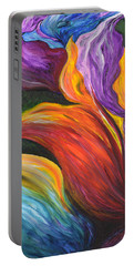 Abstract Vibrant Flowers Portable Battery Charger
