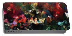Portable Battery Charger featuring the painting Abstract Wall Art In Dark Colors by Ayse Deniz