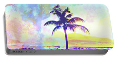 Abstract Watercolor - Beach Sunset I Portable Battery Charger