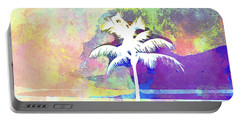 Abstract Watercolor - Beach Sunset II Portable Battery Charger