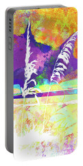 Abstract Watercolor - Morning Sea Oats II Portable Battery Charger