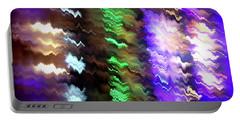 Abstract Waves Of Emotion #0609_24 Portable Battery Charger