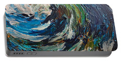Abstract Wild Wave  Portable Battery Charger