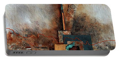 Portable Battery Charger featuring the painting Abstract With Stud Edge by Joanne Smoley