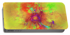 Portable Battery Charger featuring the digital art Abstract With Yellow by Deborah Benoit
