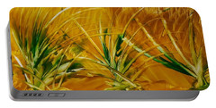 Abstract Yellow, Green Fields   Portable Battery Charger