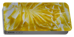 Abstract Yellow  Portable Battery Charger