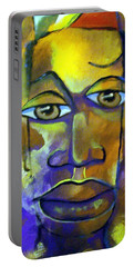 Abstract Young Man Portable Battery Charger