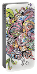 Abstract2colored Portable Battery Charger